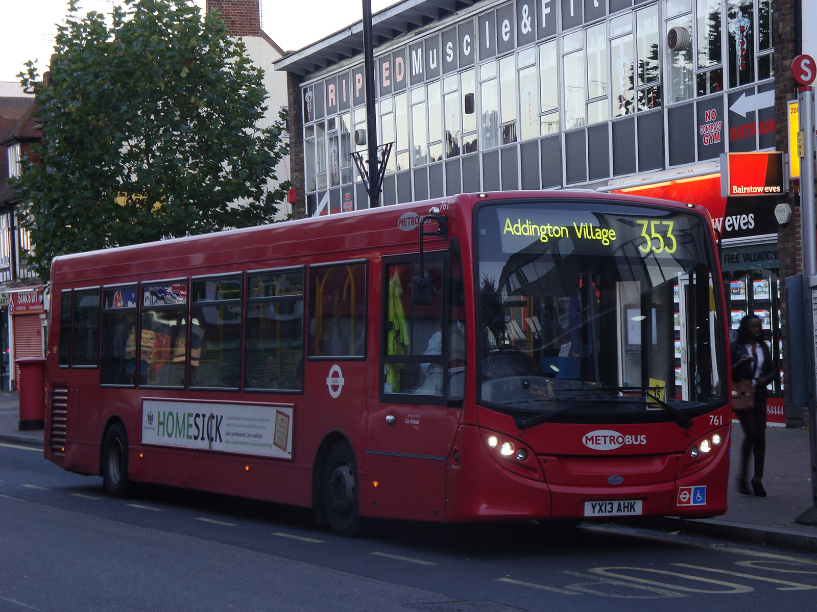 Metrobus London General 761 on Route 353, Orpington.