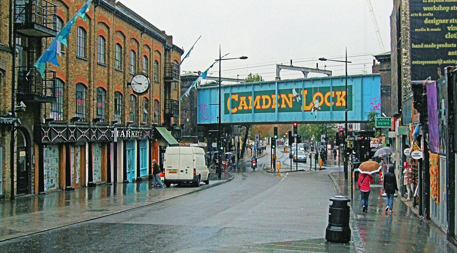 The famous Camden Lock bridge.