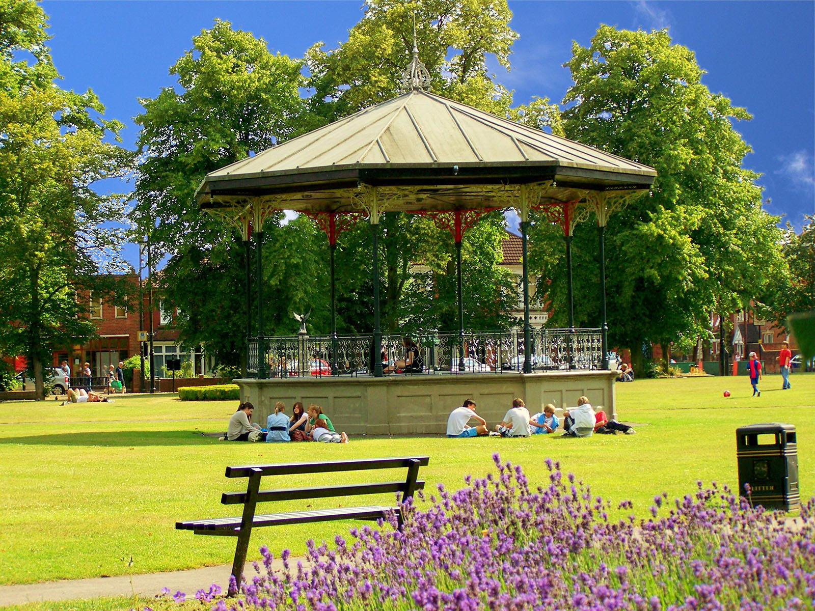 Victorian Bandstand in Eastleigh, Hampshire.