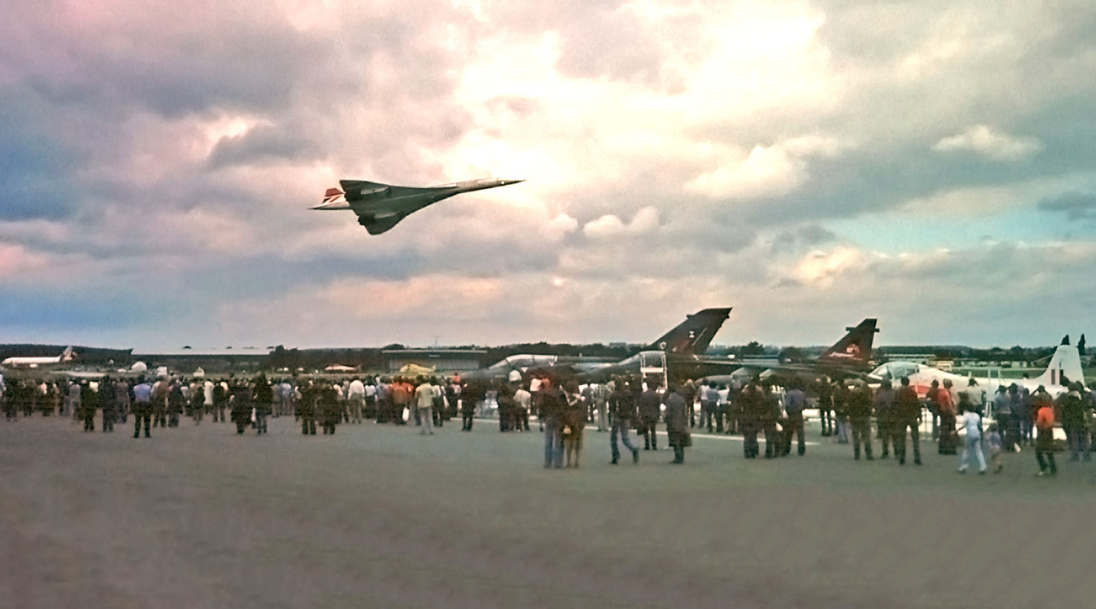 The British Airways Concorde at Farnborough Airshow in 1978.