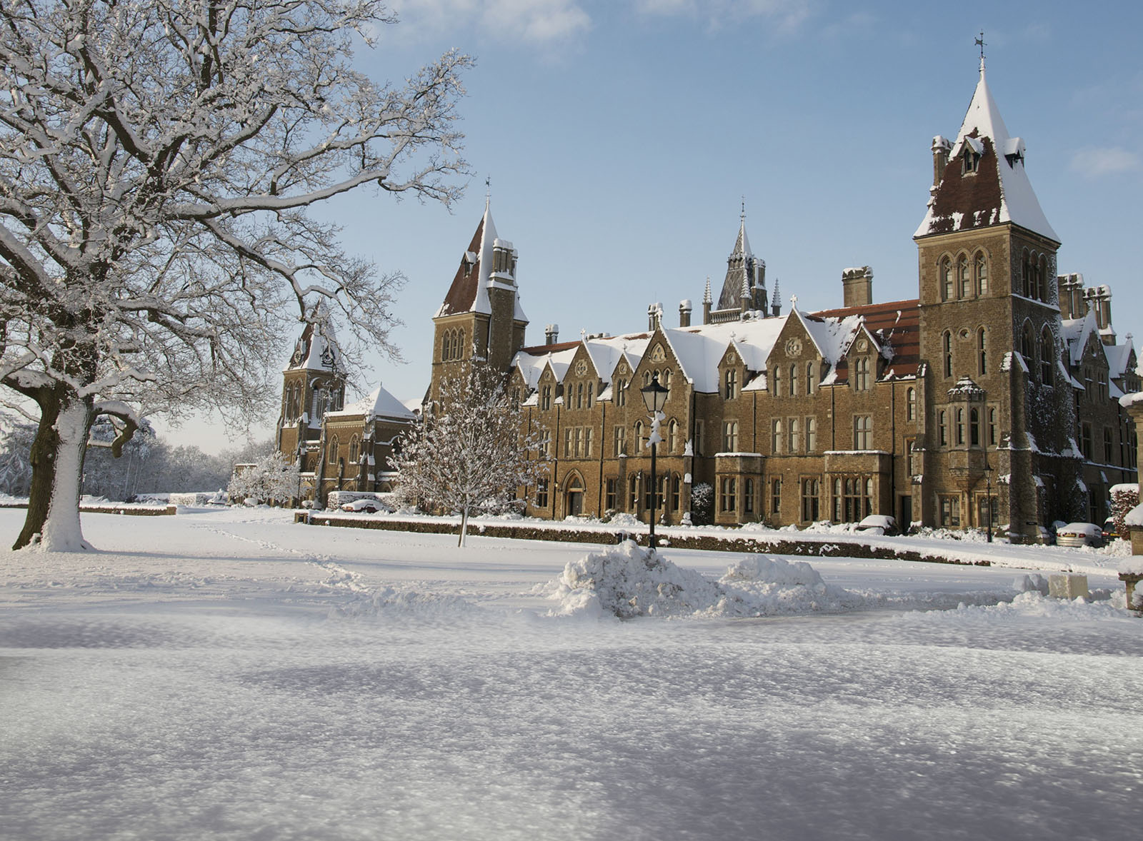 Charterhouse School, Godalming in the snow.