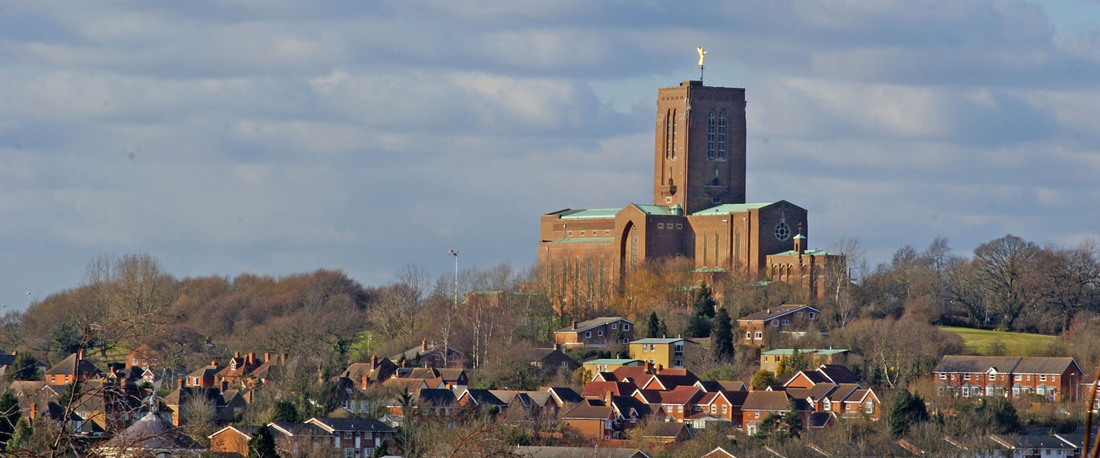 Guildford From Afar - the cathedral stands tall above the rest of the picturesque town.
