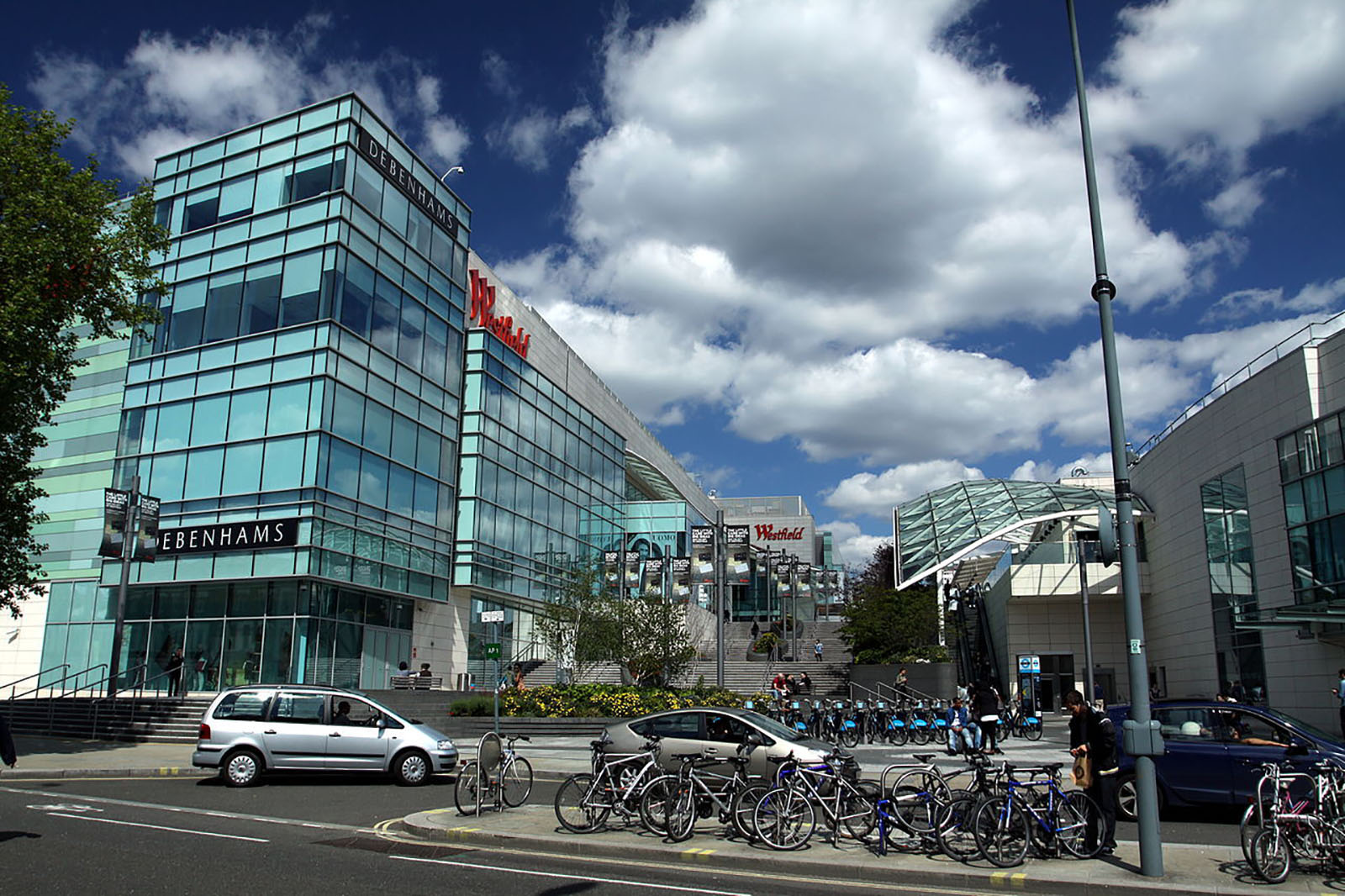 Westfield London shopping area in London Borough of Hammersmith and Fulham.