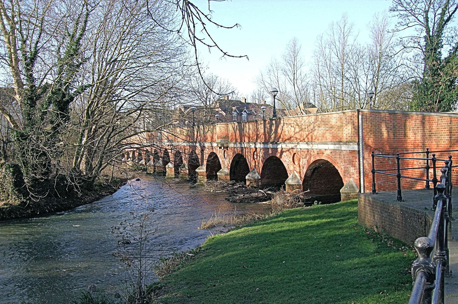 Leatherhead Town Bridge Over The River Mole.