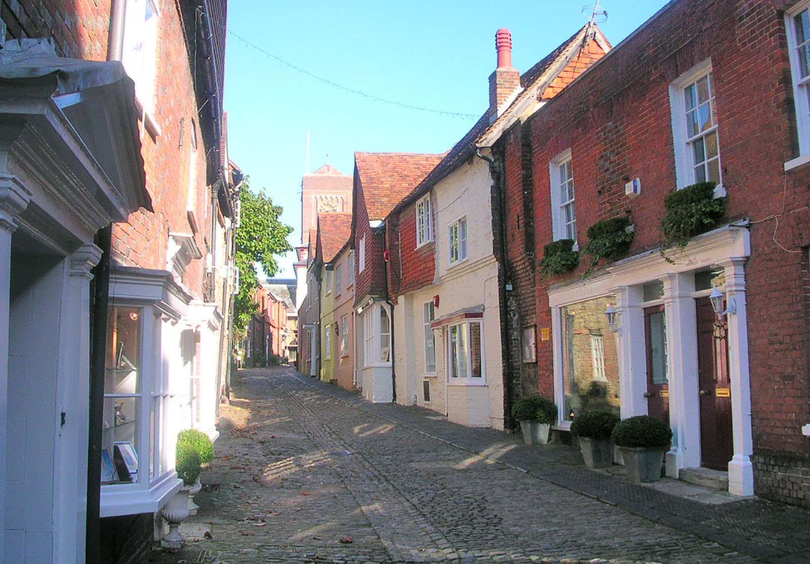 Lombard Street - an old cobbled street in Petworth.