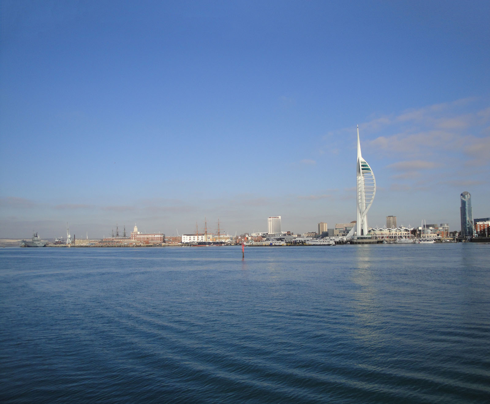 Portsmouth Harbour as seen from Gosport Haslar Marina.