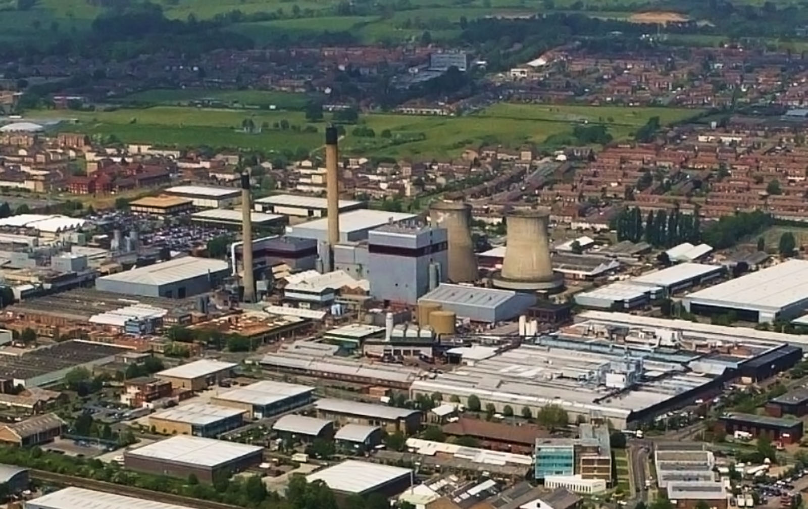 Aerial View of Slough Trading Estate.