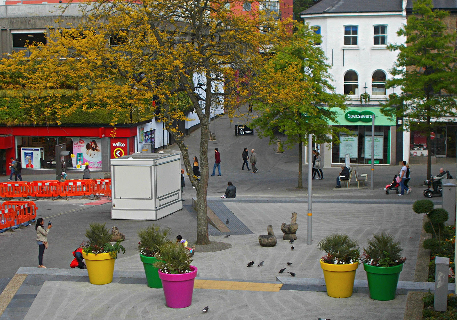 The central square just off the high street in Sutton.