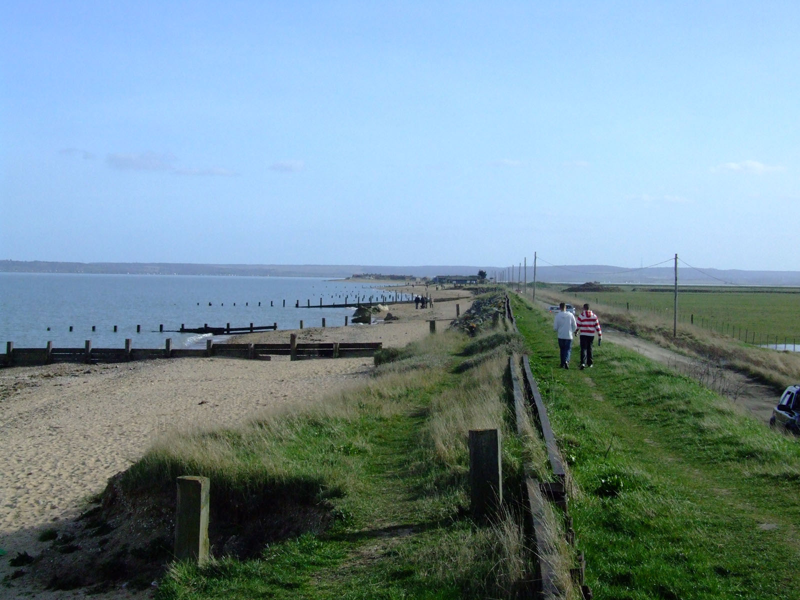 Looking across the Swale to Whitstable from Leysdown sea wall.