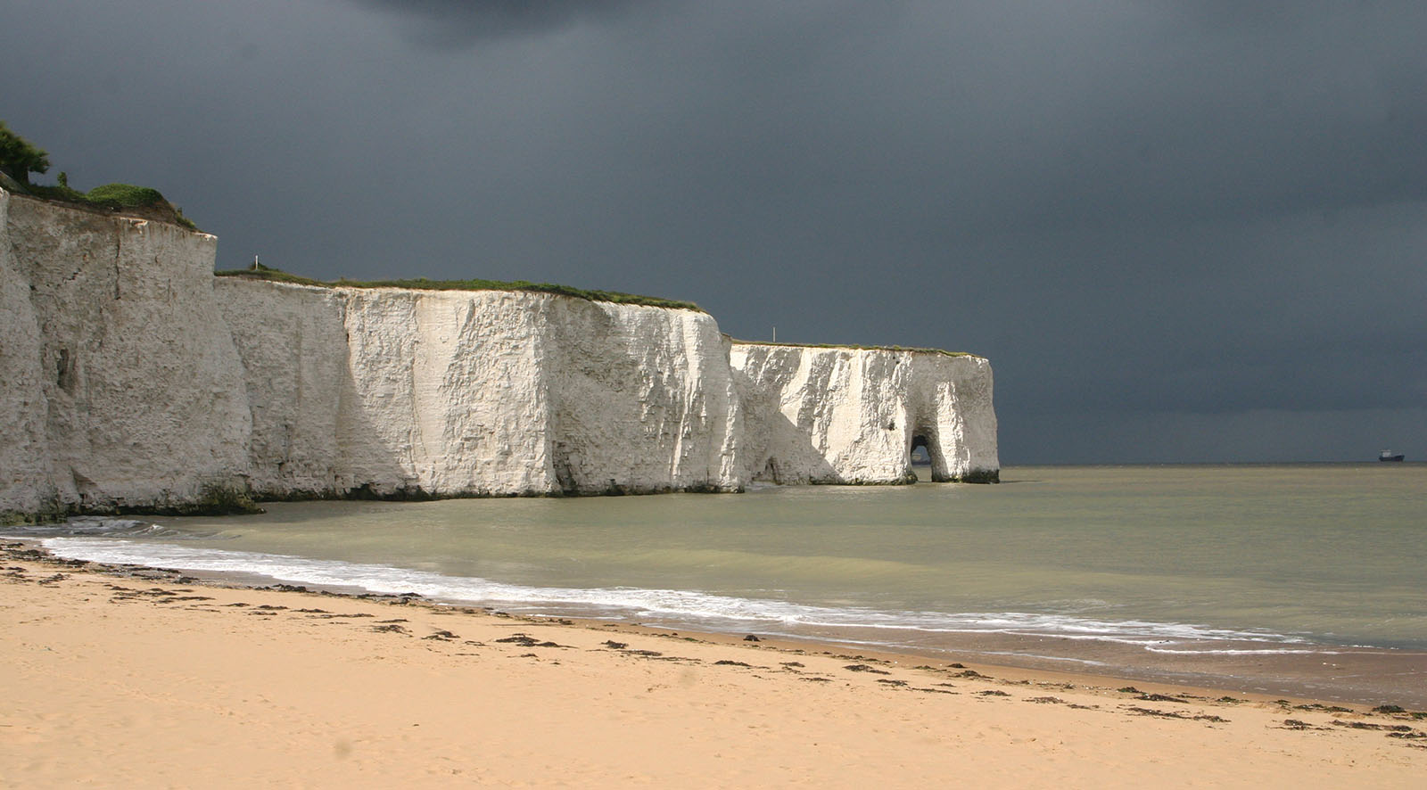 View of Kingsgate Bay, Broadstairs, Kent.