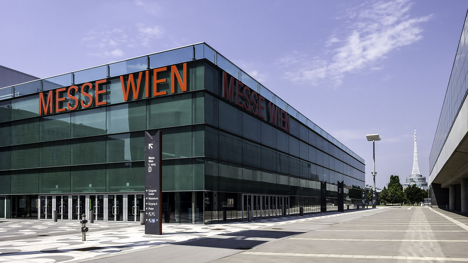 The Messe Wien Exhibition Congress Center.