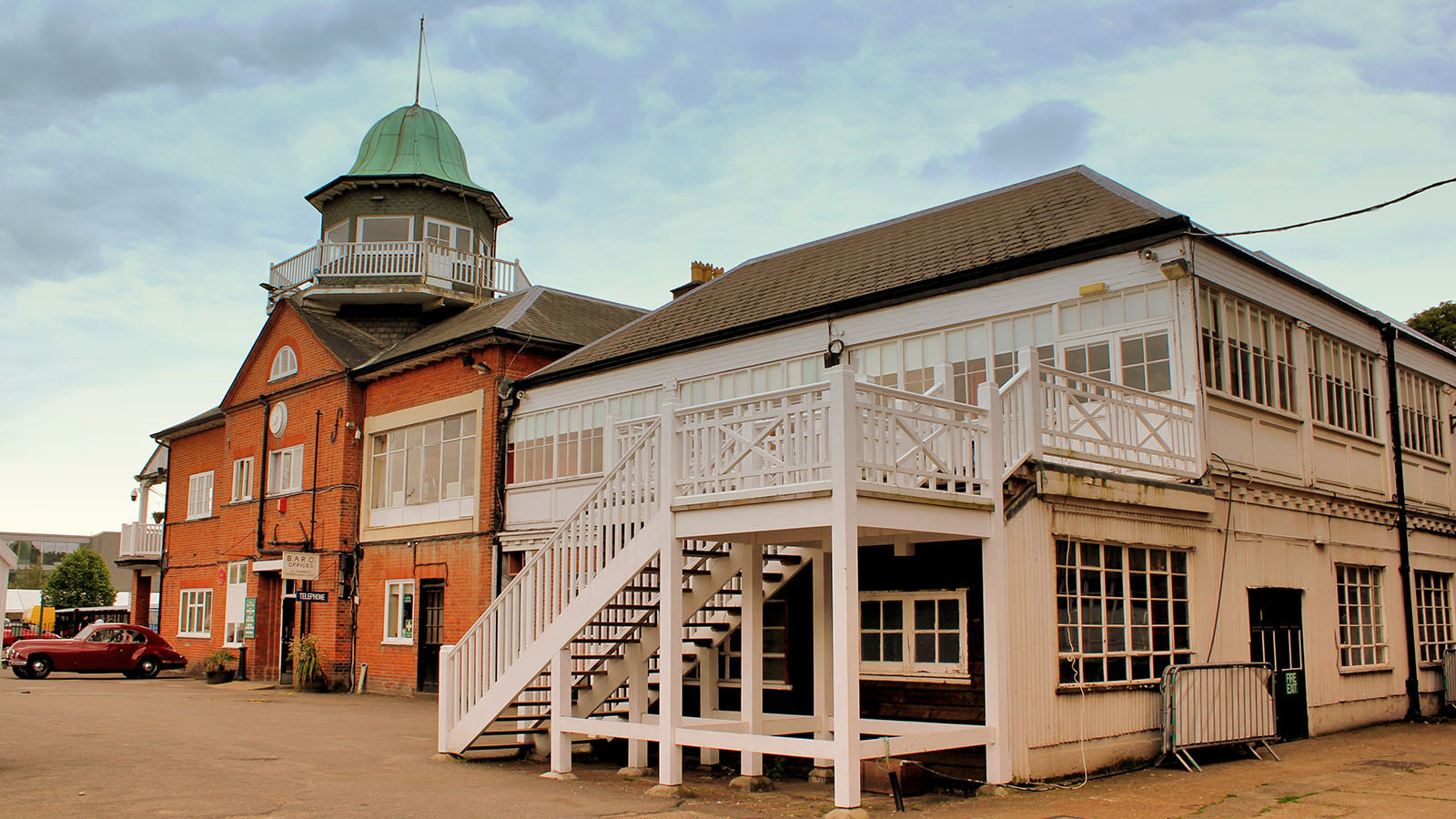 Main building at the brooklands museum in Weybridge.
