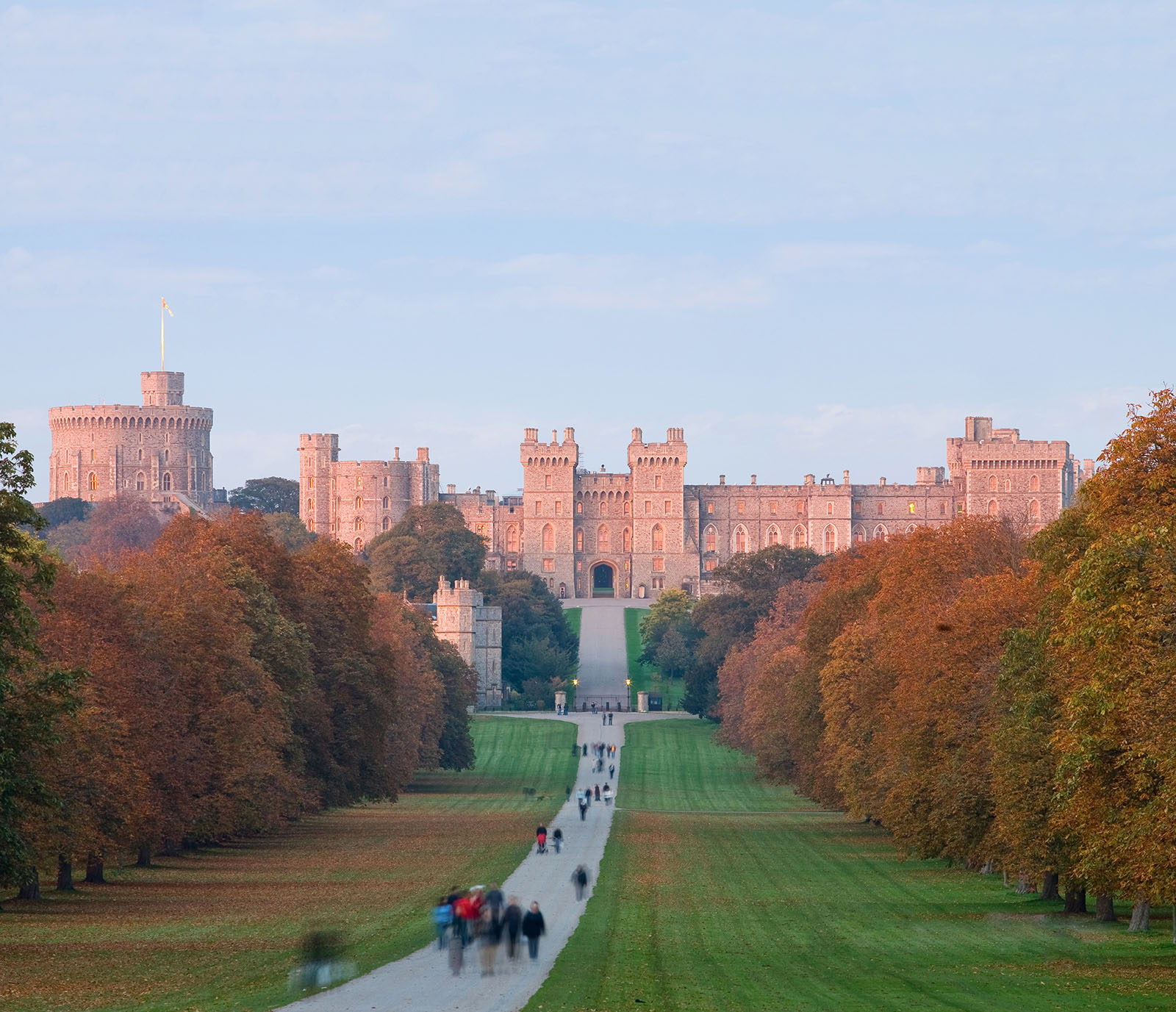 Windsor Castle at Sunset.