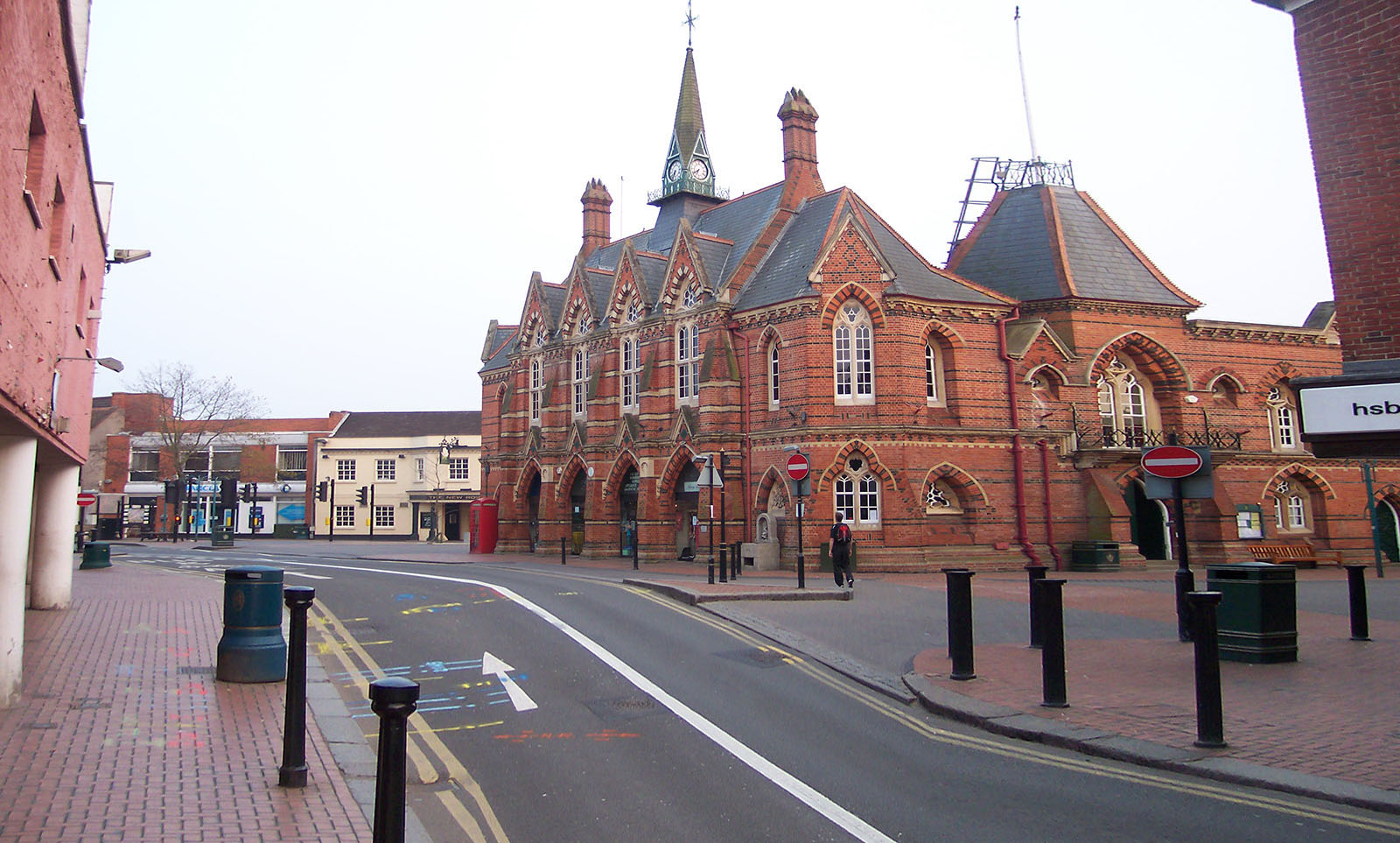 Town hall of Wokingham (Berkshire, England); built in 1860 on the site of the guildhall.